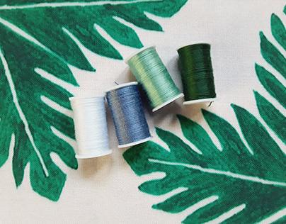 Breadfruit Garden - Textile design