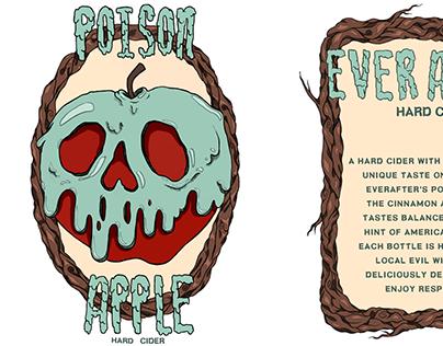 "SnowWhite ""Poison Apple"" Beer Label"
