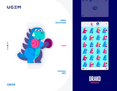 Drako free Stickers Set