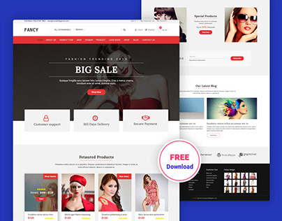 Fashion Ecommerce Free PSD Template