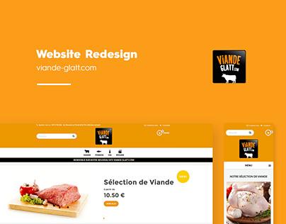 Viande Glatt - Website Redesign