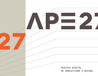 Revista APE27 - Design e diagramação