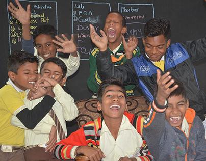 Digital class room in a village