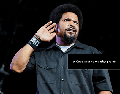 Ice Cube website redesign
