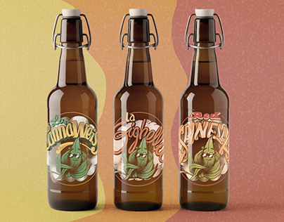 Hemp beer labels