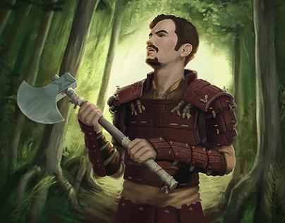 Hardwood Armor -Card Illustration