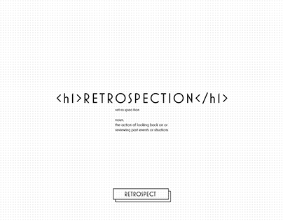 Retrospection Magazine