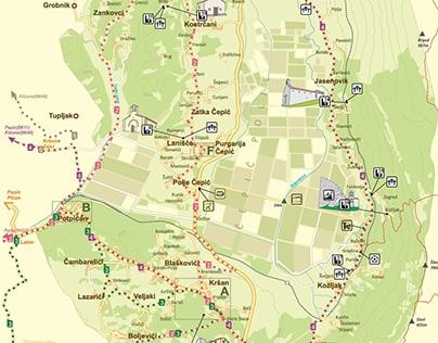 Krsan Map (Istria, Croatia)