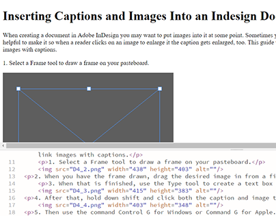 Linking Images and Captions in Adobe InDesign