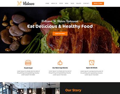 Restaurants website PSD design