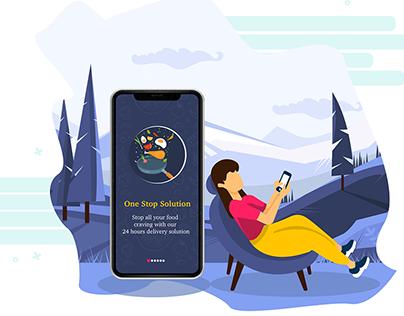 Illustration & UI: Foodie App