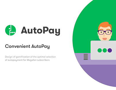 Megafon® AutoPay gamification design & app UI