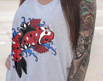 Koi Fish Tote-ly Design