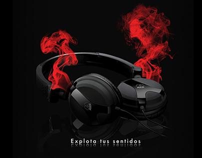 AKG Headphones Advertising