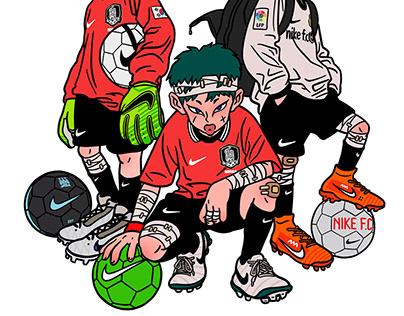 NIKE FOOTBALL STUDIO SEOUL ARTWORK