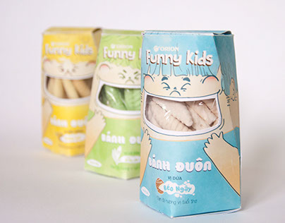 Funny Kids - Coconut Cookies Packaging