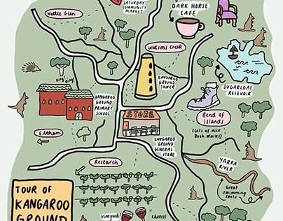Map of Kangaroo Ground