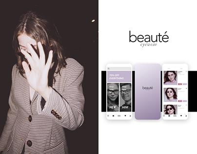 Beauté Eyewear E-commerce UI Design