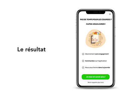 UX Writing - Promotion application supermarché