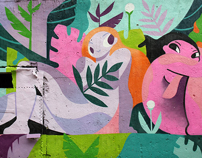 Corgi on the hill / mural / MESTO fest