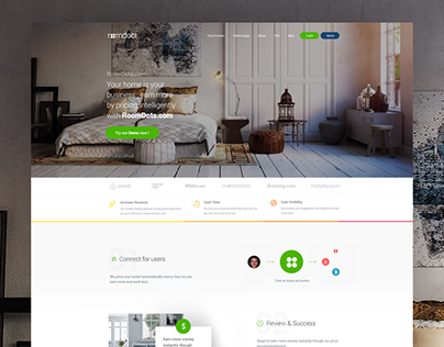 Roomdots.com- Begin to earn more money Web Redesign