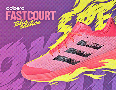 Adidas FastCourt (Tokyo Edition) ad design