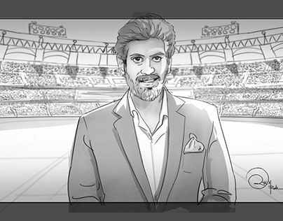 Storyboard for Star Sports TVC (Animatics )