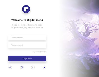 Simple Login Page UI