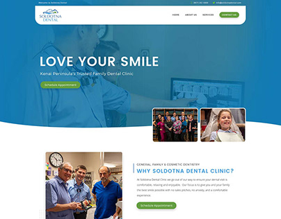 Soldotna Dental - Custom website design