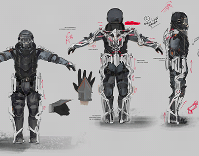 Concept art for the Exorder