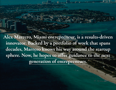 Alex Marrero Miami's Official Personal Website