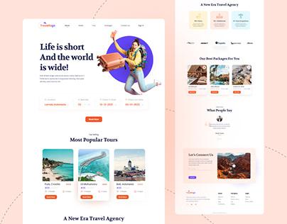 Travel Company Landing Page - Concept Design
