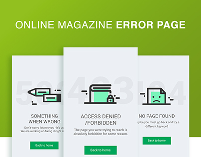 Error Page For Online Magazine