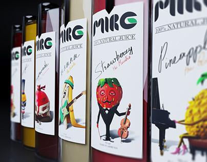 """MIRG"" Natural Juice Product Design"