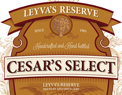 Leyva's Reserve - Labels, and Wood Crate Design