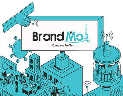 Brandmoi's Isometric branding illustration.