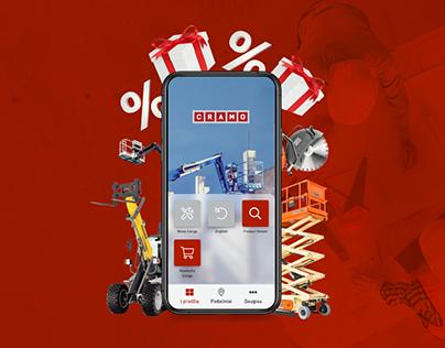 Cramo E-rental Campaign Visuals