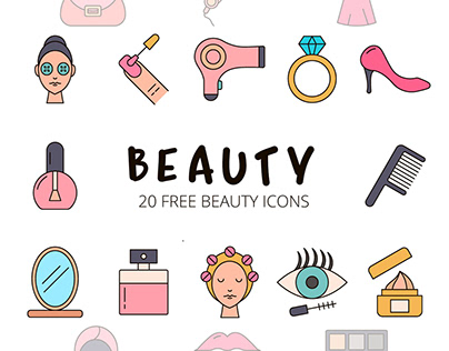 Beauty Vector Free Icon Set