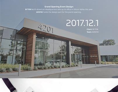 BYTON Grand Opening Design