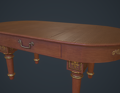 3D Luxurious Stylized Table