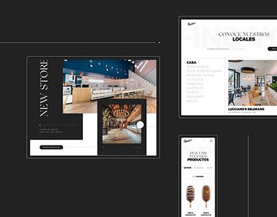 Lucciano's — Web Design