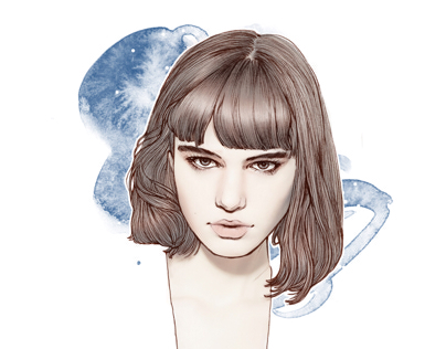Hair-fashion illustration