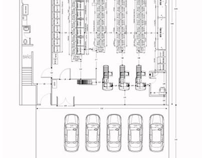 Plano Autocad Autoservicio