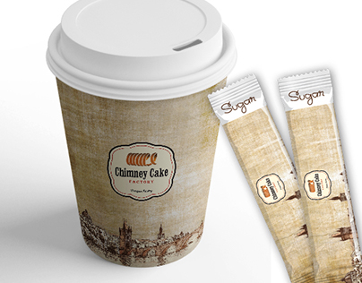 Coffee Cup and Sugar Sachet