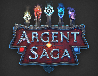 Argent Saga (3D Logo Design)