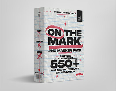 ON THE MARK: All-In-One PNG Marker Pen Texture Pack