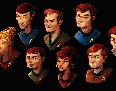 STAR TREK portraits