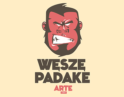 T-shirt monkey - Arte Crew