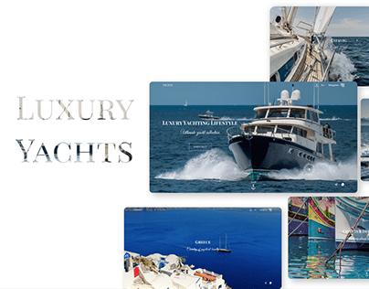Website Design Concept - Luxury Yacht Rental Service
