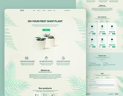 Landing page for a little shop plant